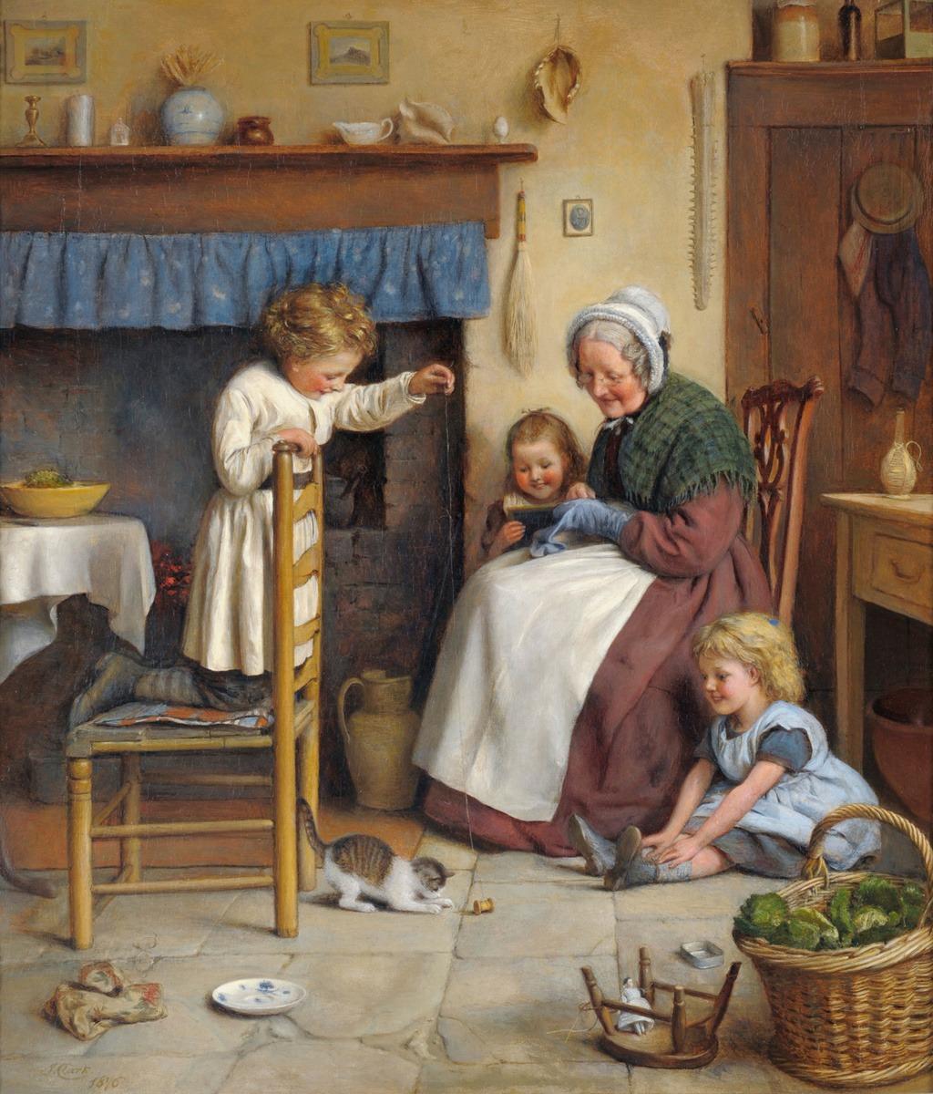 Старуха и внук на кухне 21 фотография