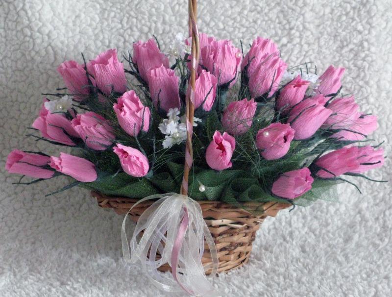 Букеты цветов из бумаги своими руками мастер класс фото