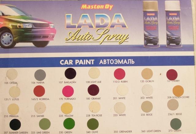 Maston värikoodit