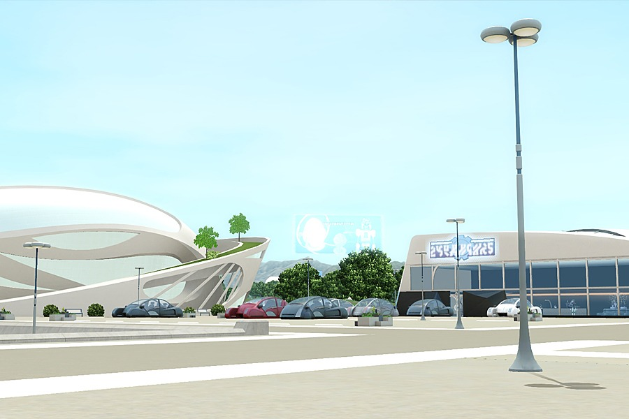 Город Оазис Приземления в The Sims 3 Вперед в Будущее