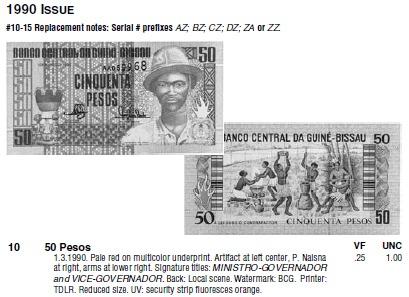 Монеты и купюры мира №44 50 песо (Гвинея-Бисау)