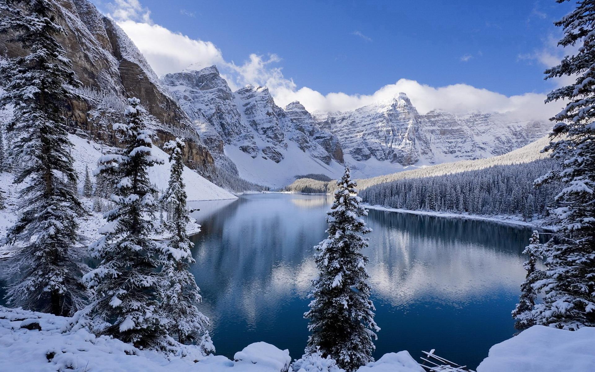 Природа зима обои рабочий стол