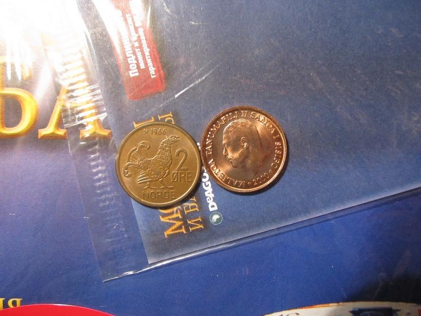 Монеты и банкноты №96 2 сене (Самоа), 2 эре (Норвегия)