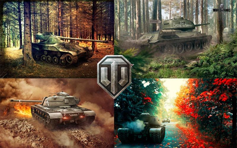 Широкоформатные обои World of Tanks