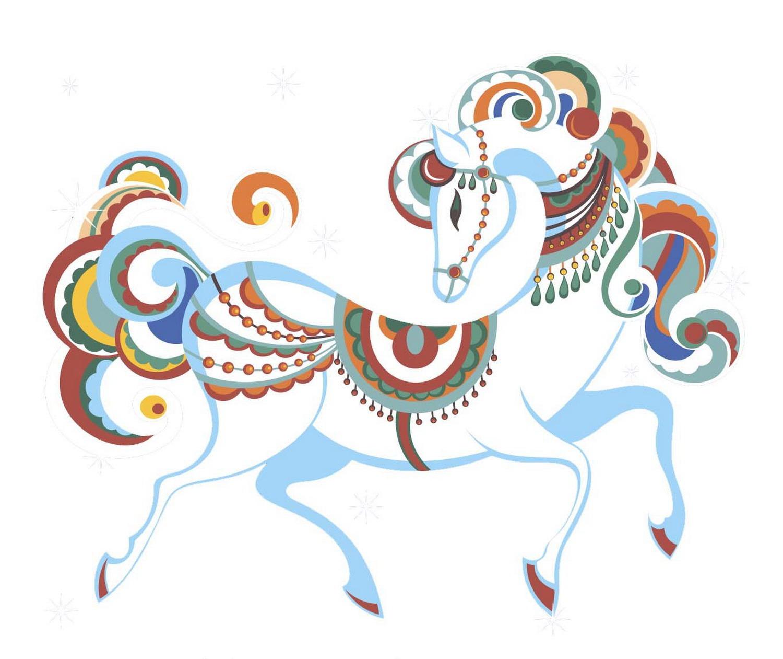 Рисунки с лошадью к новому году