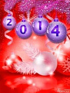 С Новым годом Лошади 2014 Анимированные Открытки