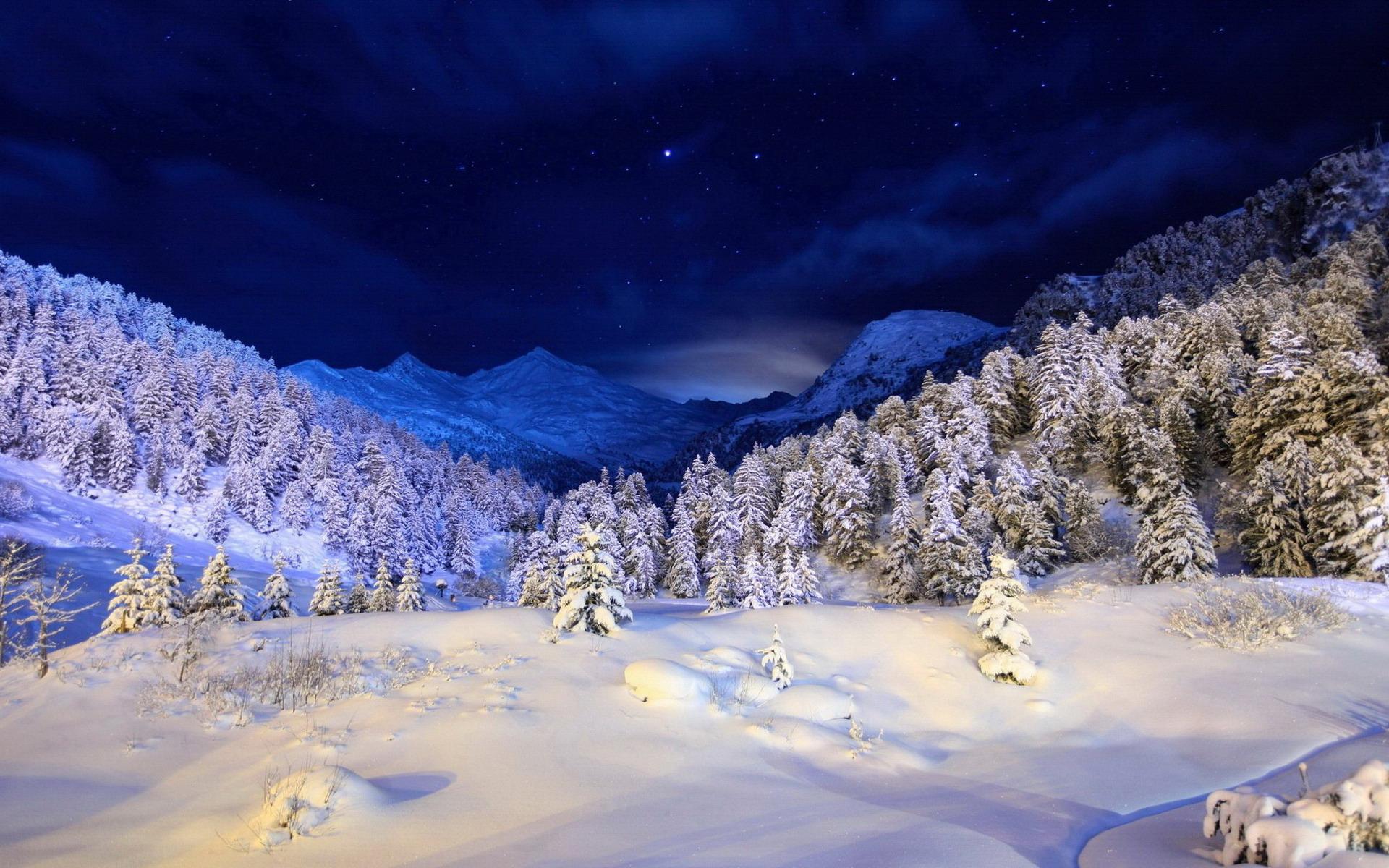 обои зима на рабочий стол пейзаж № 640736 загрузить