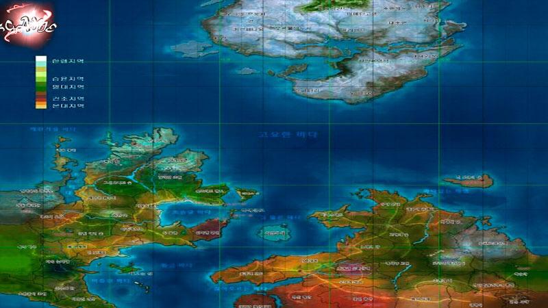 ArcheAge карта мира