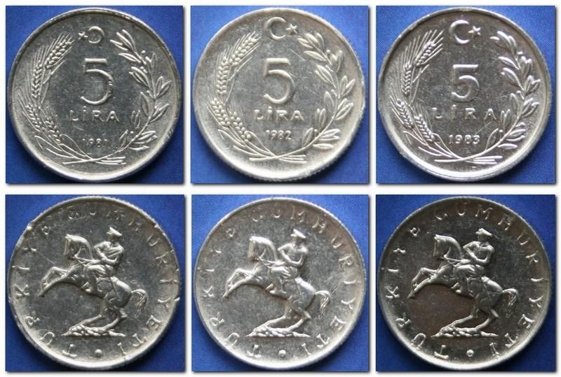 Монеты и банкноты №111 100 динаров (Босния и Герцеговина), 5 лир (Турция)