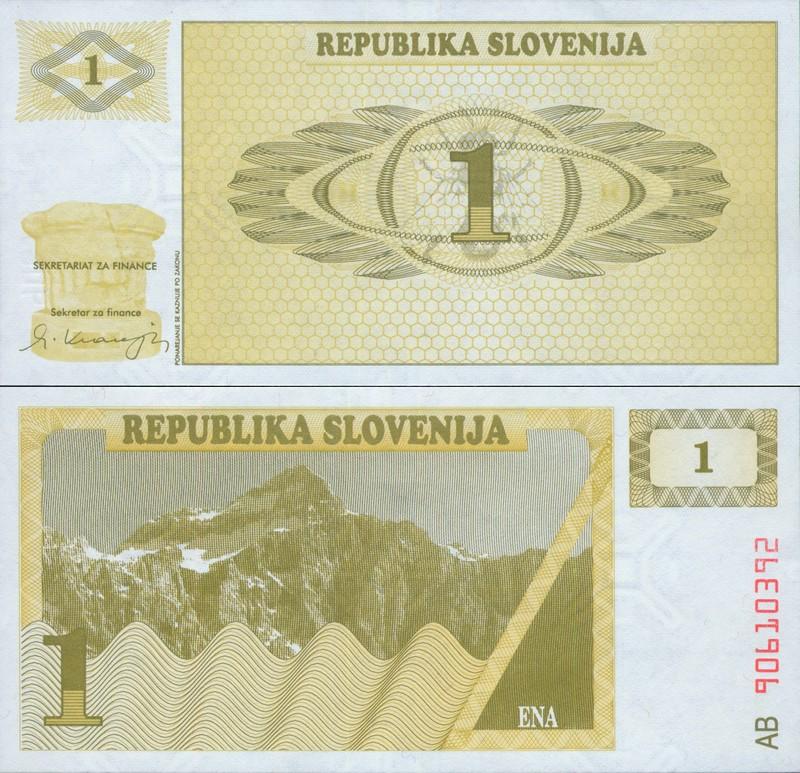 Монеты и купюры мира №83 1 толар (Словения)
