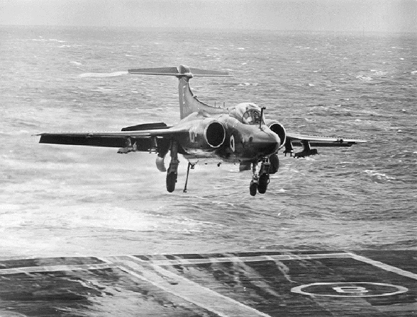 Blackburn Buccaneer landing on Eagle, ~1971
