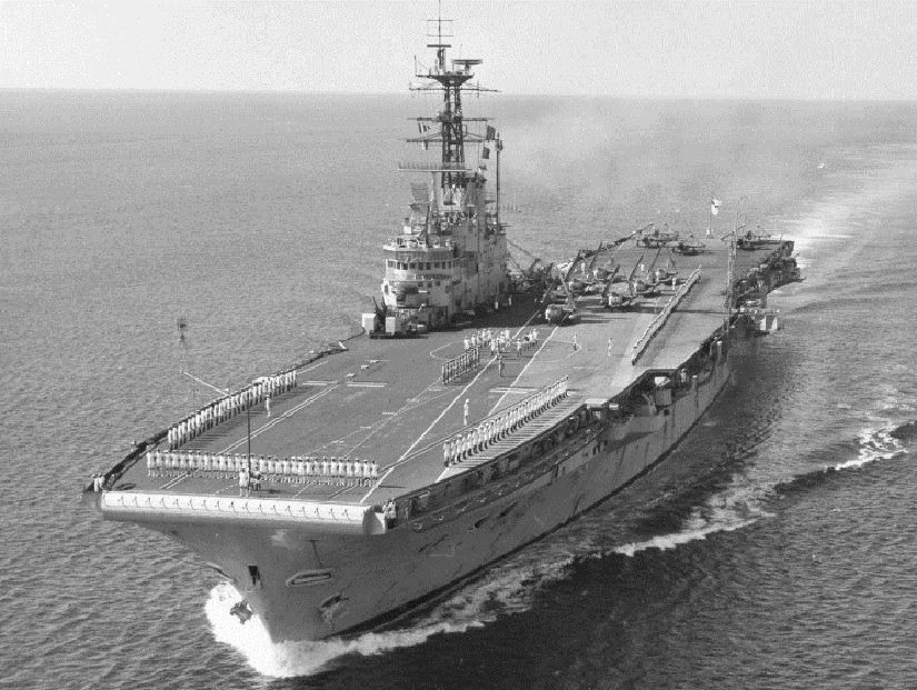 HMS Albion R-07, дата и место неизвестно.