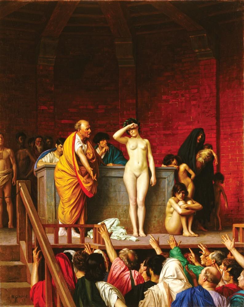 леди демонстрирует как развлекались с рабами представлении