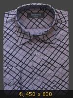 приталенная мужская рубашка K5