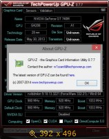 GPU-Z 0.7.7 + ASUS ROG Skin (2014) Английский